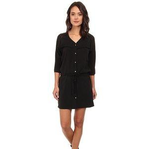 MAISON SCOTCH Black Fringe Shirt Dress Medium
